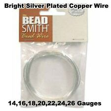 Silver Plated German Bead Craft Wire - 7 Gauges - Bright Silver, Crafts, Jewelr