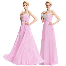 IN Stock New Prom Party Ball Gown Formal Wedding Bridesmaid Bridal Evening Dress
