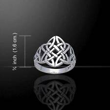 Endless Knot Celtic Knotwork Silver Ring - Symbolising eternity