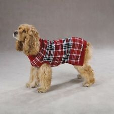 Zack & Zoey English Plaid Dog Sweater Red XXS-XL