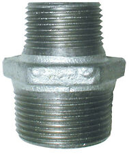 "Galvanised BSP Reducing Hex Nipple Male Fitting,From 3/8"" x 1/4"" up to 1"" x 3/4"""