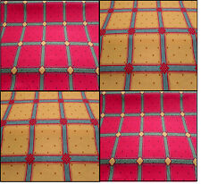 Nouveau Campagne Check Red & Yellow Designer Curtain Upholstery Fabric £7.99 mt