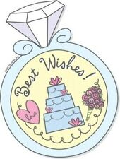 WEDDING RING EDIBLE IMAGE CAKE TOPPER! CUPCAKES! COOKIES! FREE SHIPPING! CUTE!