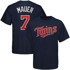 Minnesota Twins Majestic Joe Mauer #7  Navy BOYS Jersey T-Shirt