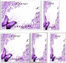 PURPLE BUTTERFLY LIVE LAUGH LOVE #3  IMAGE  LIGHT SWITCH COVER PLATE U PICK SIZE