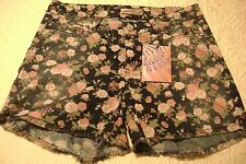 New Breaker Jeans By Jalate Denim Cut Off Shorts Rose Floral Stretch 320