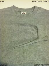 12 NEW AAA ALSTYLE APPAREL LONG SLEEVE T-SHIRT HEATHER GRAY PLAIN M-2XL 12PC