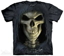 THE MOUNTAIN BIG FACE DEATH REAPER SKELETON SKULL GRIM T TEE SHIRT S-5XL