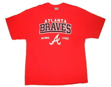 Atlanta Braves Adult Big and Tall T-Shirt Red Tee Choose Your Logo/Size MLB