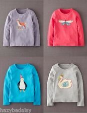 Mini Boden girls long sleeve cotton applique top t- shirt NEW all ages