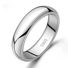 Sterling Silver Plain Band Comfort Fit Ring Solid 925 3MM
