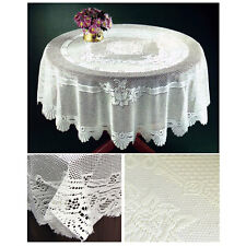 Lace Table Cloth With Traditional Rose Floral - Thick Quality - Table Protector