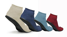 Medline Sure-Grip Terrycloth Slippers with Rubber Sole Socks