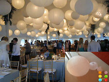 Round Chinese Paper Lanterns WHITE Color For LED  Scrawl Wedding Funeral