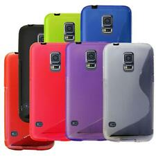 For SAMSUNG Galaxy S5 i9600 S-Line Silicone Gel Phone Fitted Back Case Cover