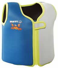 Mares Childs Swim Training Jacket / Vest with Removable Buoyancy - Blue/Green