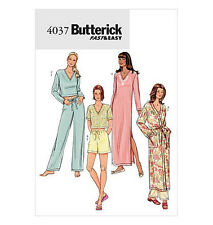 SEWING PATTERN Butterick 4037 Misses Lounge PAJAMAS ROBES GOWNS & NIGHTGOWNS