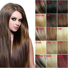 Fashion 16 Color 7/12pcs 22'' Clip in Full Head Straight Nice Lot Hair Extension