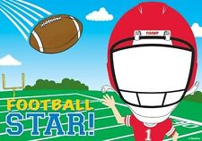 FOOTBALL STAR FACE EDIBLE IMAGE FRAME CAKE DECORATION! TOPPER! YOUR PICTURE!