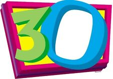 HAPPY 30TH BIRTHDAY EDIBLE IMAGE FRAME CAKE DECORATION! TOPPER! YOUR PICTURE!