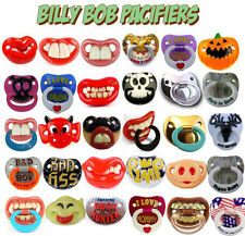Billy Bob Pacifier [40+ Styles] Dummy Baby Teether Pacy Orthodontic Halloween