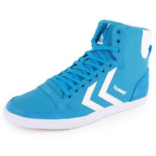 Hummel Stadil Slim High 63-008 Unisex Trainers Light Blue New Shoes All Sizes