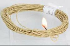 Waxed Hemp cord 100% with Pure Bees wax  Hemp Twine -   - Holds Flame- Wick