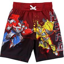Transformers Toddler Boys Red Swim Trunks 270525 2T 3T 4T
