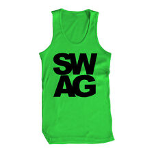 Swag Yolo Young Wild Funny Hollywood 420 Legalize Famous Cool Bro Mens Tank Top