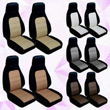 CC 90-97 Mazda Miata Two Tone Front Set of Seat Covers. Choose Your COLOR COMBO