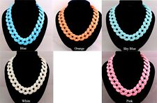 JLM's New Occident Hot Women Fashion Acrylic Chunky Choker Necklace Pendant
