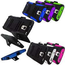 Phone Case For Samsung Galaxy S 4 Active Holster Rugged Hard Cover Stand