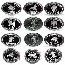 BBUM0159 TRADITIONAL HOROSCOPE TROPICAL ZODIAC ASTROLOGY BELT BUCKLE