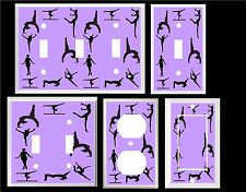 GIRLS GYMNASTICS ON PURPLE  HOME DECOR LIGHT SWITCH COVER PLATE OT OUTLET