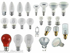 STANDARD GU10 / CANDLE / GOLF / GLS / HALOGEN LED APPLIANCE HOUSING LIGHT BULBS