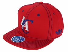 Adidas NBA Basketball Men's Los Angeles Clippers Snapback Cap Hat, Red