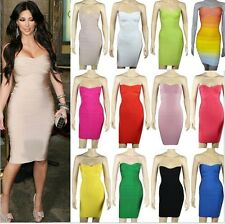 free shipping stylish bandage party dress rayon mini strapless sweetheart dress