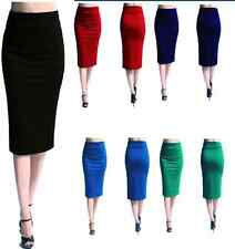 Womens Celeb Style High Waist Bodycon Wear To Work Cocktail Party Pencil Skirts
