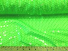 Discount Fabric Fancy Lycra /Spandex Neon Green with Sequins 115FL