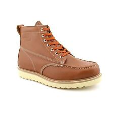 "Work America 6 Work"" Mens Narrow Moc Leather Work Boots No Box"