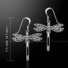 Spirit of the Dragonfly .925 Sterling Silver Earrings - with gemstone selection