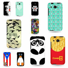 Hard Rubber Snap On Plastic Case For HTC Desire 601 Design Case