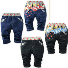 kids Baby Boys Girls Jeans Pants Trousers