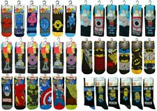 6 PAIRS OFFICIAL MENS ADULTS CHARACTER NOVELTY CARTOON COMIC TV THEME SOCKS 6-11
