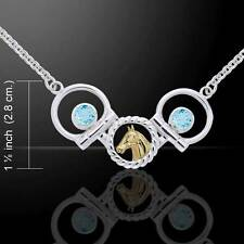 Stunning Draft Horse and Bit Silver and Gold Accent Necklace