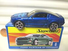MATCHBOX 2004 Hershey Toy Show Ford Mustang Concept Printed +Unprinted Hood NIB*