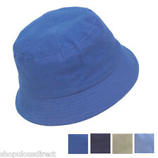 Baby bucket sun hat boy girl toddler 4 Colours 1-4yrs cap 100% cotton kid child