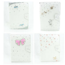 HOT 3d bling fashion colorful PU Leather diamond flip Smart Stand Case Cover