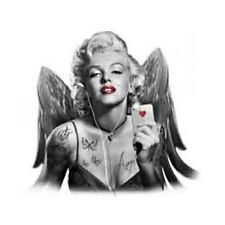 Marilyn Monroe with Wings Playing Card Tattoos Headphones Shirt