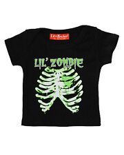 Darkside Clothing Lil Zombie Ribs Bones Baby Toddler Halloween Costume Tshirt